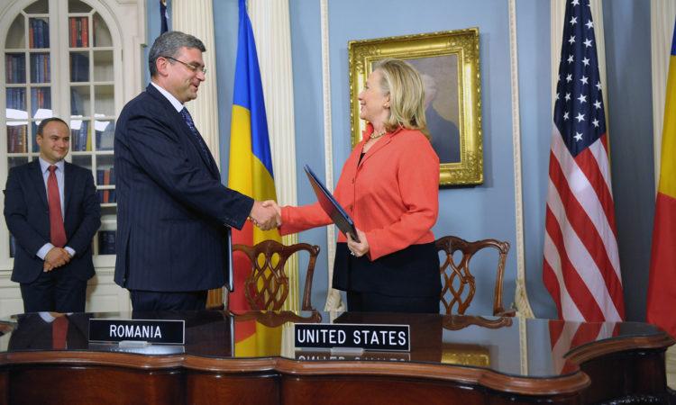 Semnarea acordului Romania - SUA