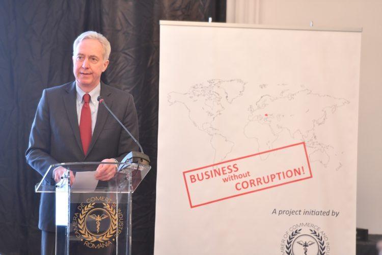 """Ambassador Hans Klemm speaks at the """"Fighting Global Corruption: Business Risk Management"""" Workshop"""