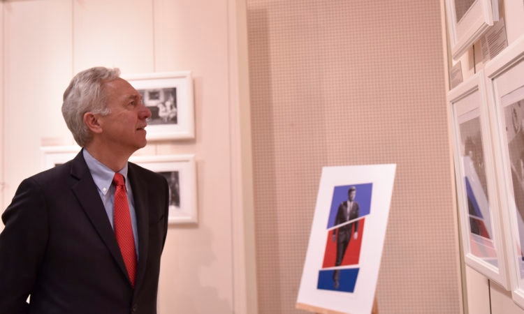 "Ambassador Hans Klemm at ""American Visionary: John F. Kennedy's Life and Times"" Photo Exhibit"